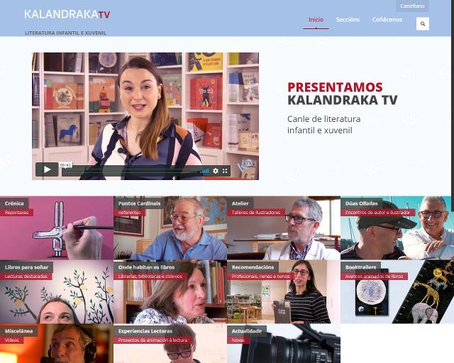 Kalandraka.tv achegará novas e reportaxes sobre literatura infantil e xuvenil