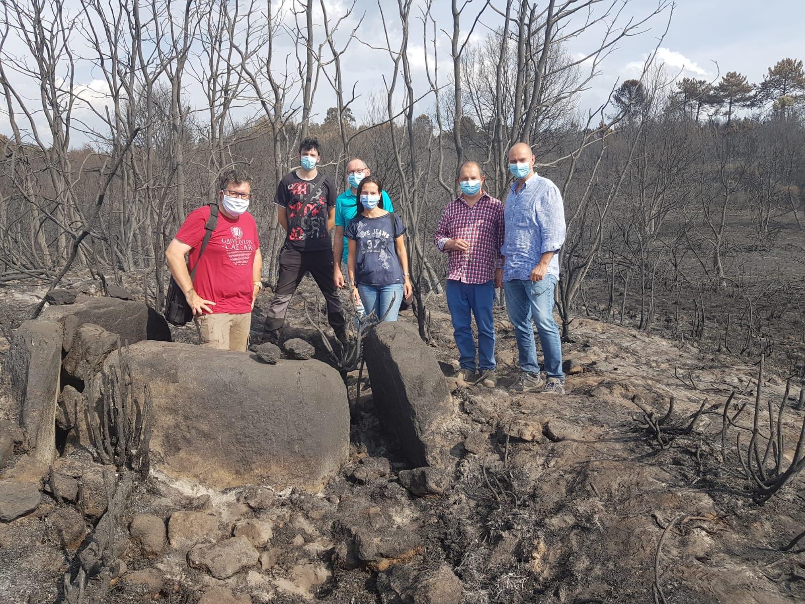 Técnicos da Dirección Xeral de Patrimonio Cultural visitaron o xacemento e traballan xa na acreditación do notable valor cultural do ben