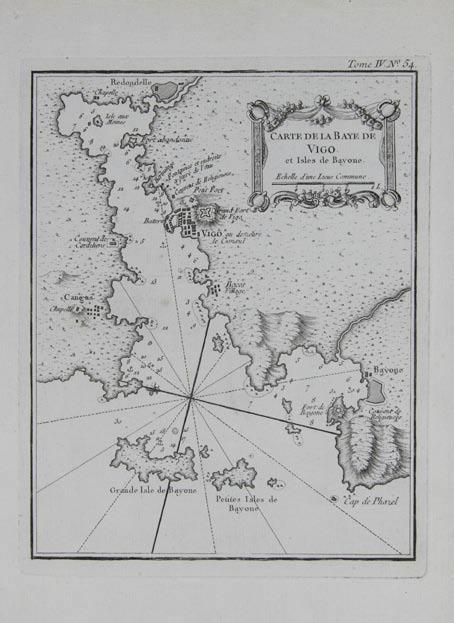 Carte de la Baye de Vigo et Isles de Bayone