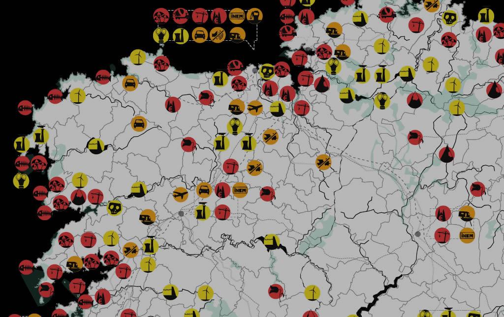 O potencial da cartografía para a denuncia e a mobilización social tamén se aproveita no noso país