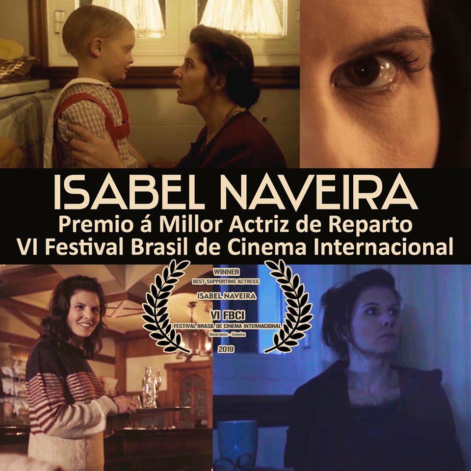 Levou o premio de interpretación feminina de reparto no certame internacional de Cinema Itinerante