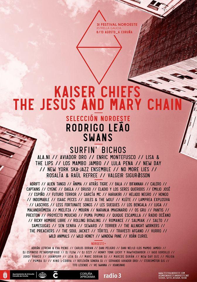 The Jesus and Mary Chain no Noroeste e BFlecha no WOS son algunhas das novidades