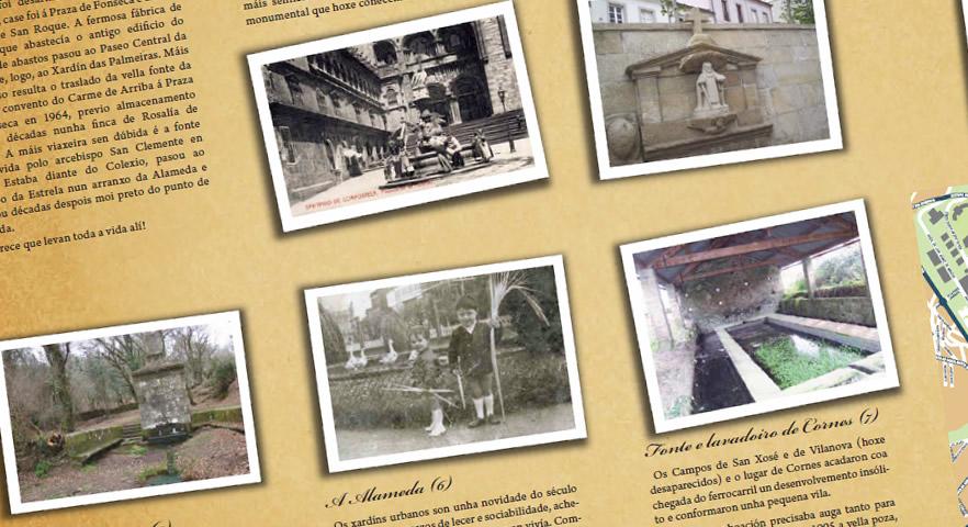 Santiago lembra o papel da auga cun folleto sobre as fontes históricas da cidade