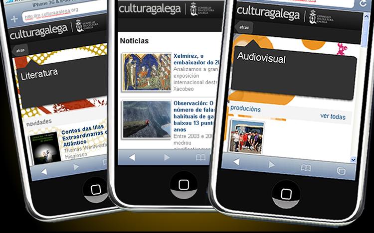 culturagalega.org renova a súa versión móbil adaptada ás últimas xeracións de teléfonos e aos novos usos dos dispositivos