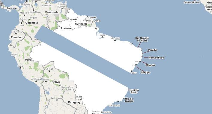 O tradutor automático do buscador confunde Galicia con Brasil e Portugal