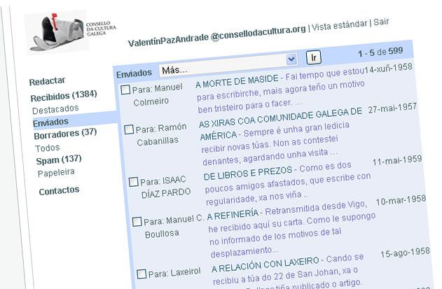 Presentamos as cartas enviadas por Paz Andrade a destacados persoeiros da cultura galega