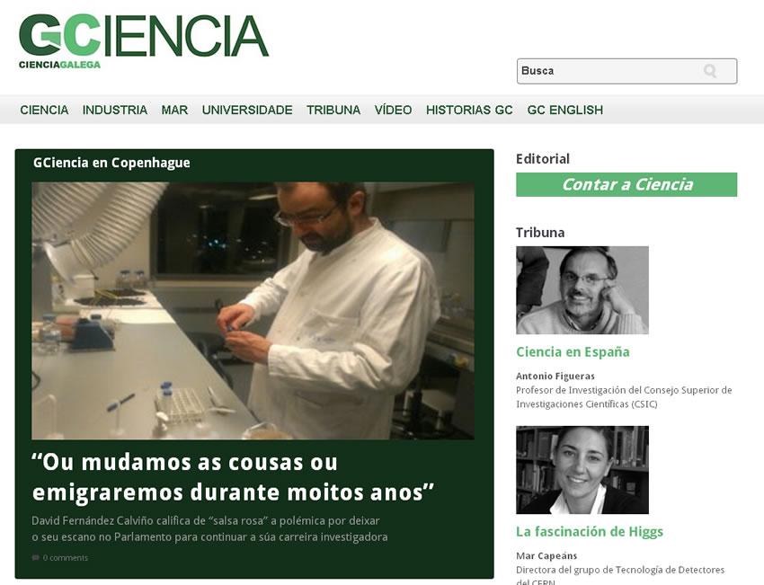 Nace o novo cibermedio GCiencia, especializado en divulgación científica