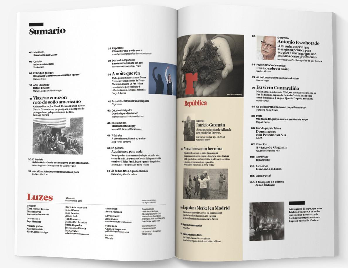 Nace a revista <i>Luzes</i>, unha ambiciosa aposta polo análise informativa en galego