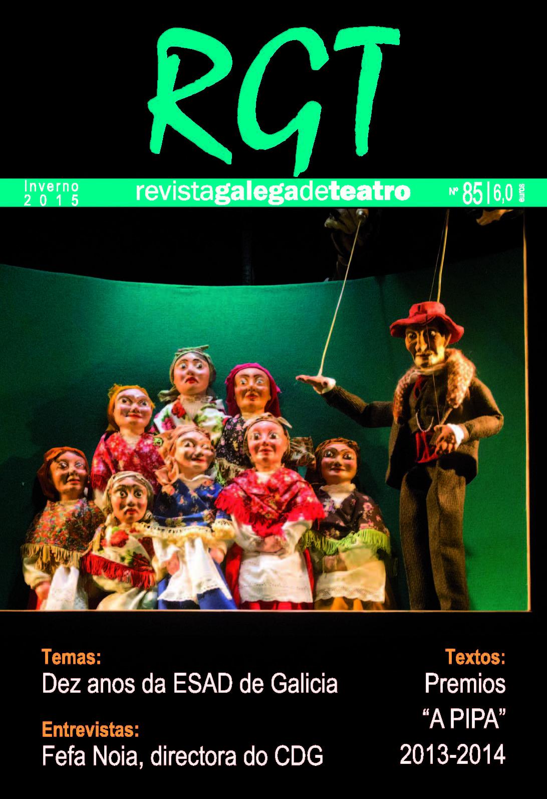 Quiosco: Revista Galega de Teatro número 85