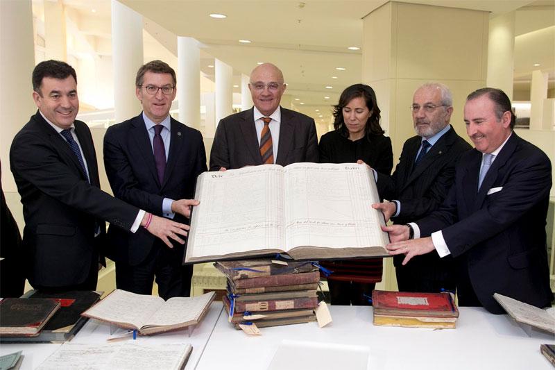 A documentación da entidade bancaria remóntase a 1760
