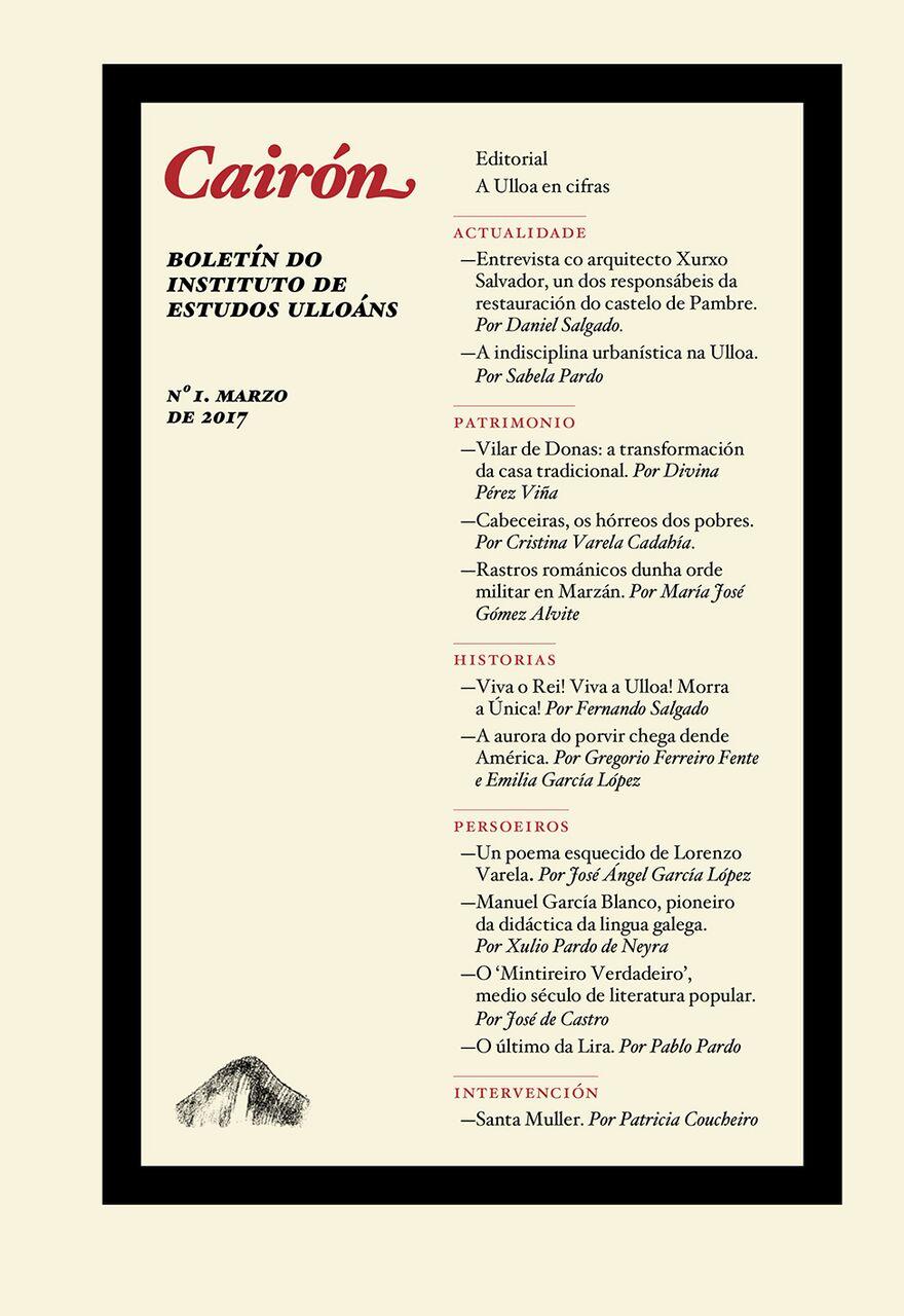 Estréase o Boletín do Instituto de Estudos Ulloáns