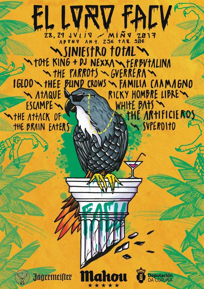 O festival El Loro Facu presenta o cartel completo da súa nova edición en xuño