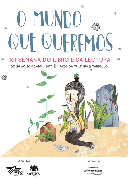 Cartaz da Semana do Libro e a Lectura de Carballo 2017
