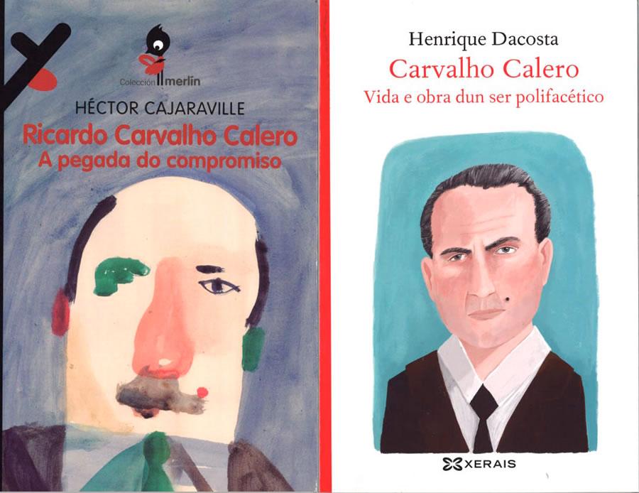 Henrique Dacosta e Héctor Cajaraville asinan as monografías