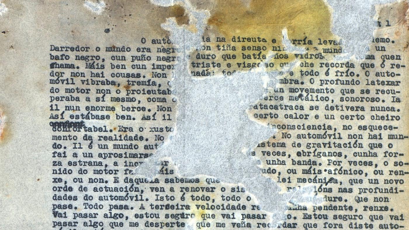 <i>Os corvos, a figueira e a fouce de ouro</i> atopábase en mal estado de conservación en Salamanca
