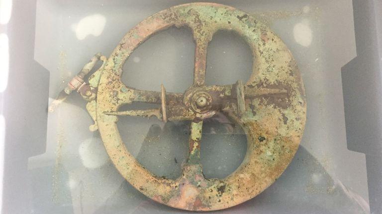 Formaría parte dos restos dun pecio aínda non identificado