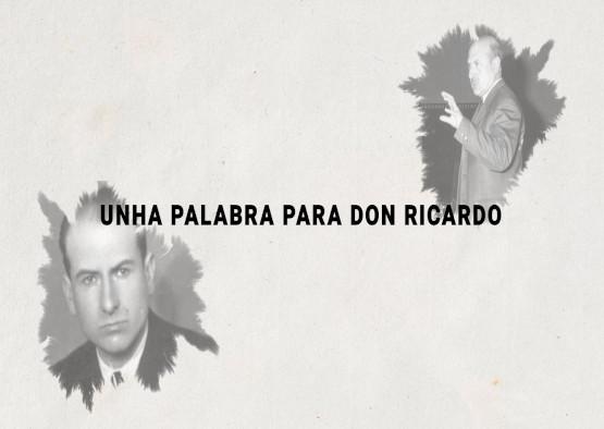 A RAG lanza a serie de microespazos <i>Unha palabra para don Ricardo</i>