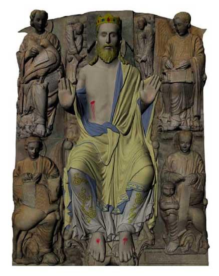 A iniciativa permite coñecer o aspecto orixinal do monumento en tres dimensións