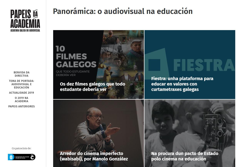 A educación centra a nova entrega da publicación da Academia Galega do Audiovisual