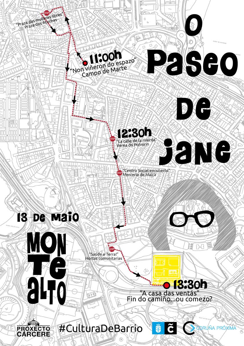 Proxecto Cárcere coordina esta actividade polo barrio de Monte Alto o vindeiro 13 de maio