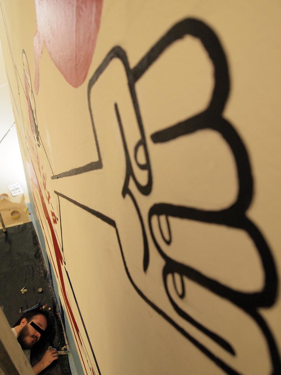 Canda aos autores de bd participan na mostra <i>Acción #1</i> os creadores de arte urbana Nin9 e Sr.X