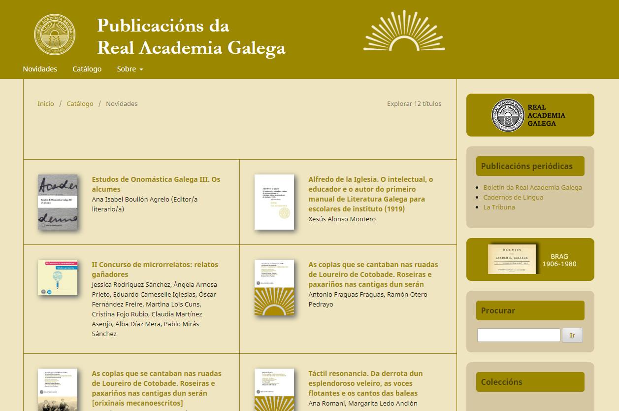 A RAG pon na rede 200 das súas publicacións