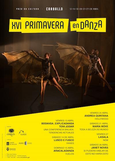 <i>Primavera de Danza</i> en Carballo e <i>Danza 3</i> completan unha axenda chea de artes do movemento