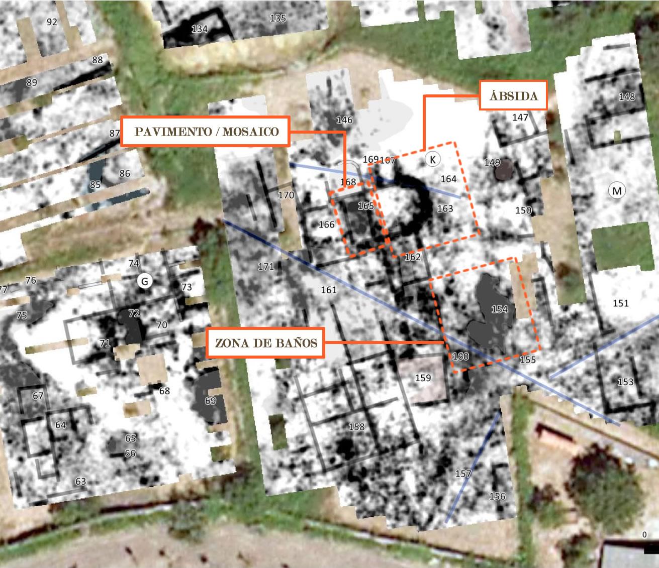 Unha prospección con xeorradar revelou un complexo entramado urbano de época romana