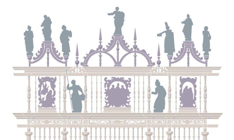 Xunta, Diócese e Estado financian uns traballos que afectarán ás reixas e púlpitos da Capela Maior