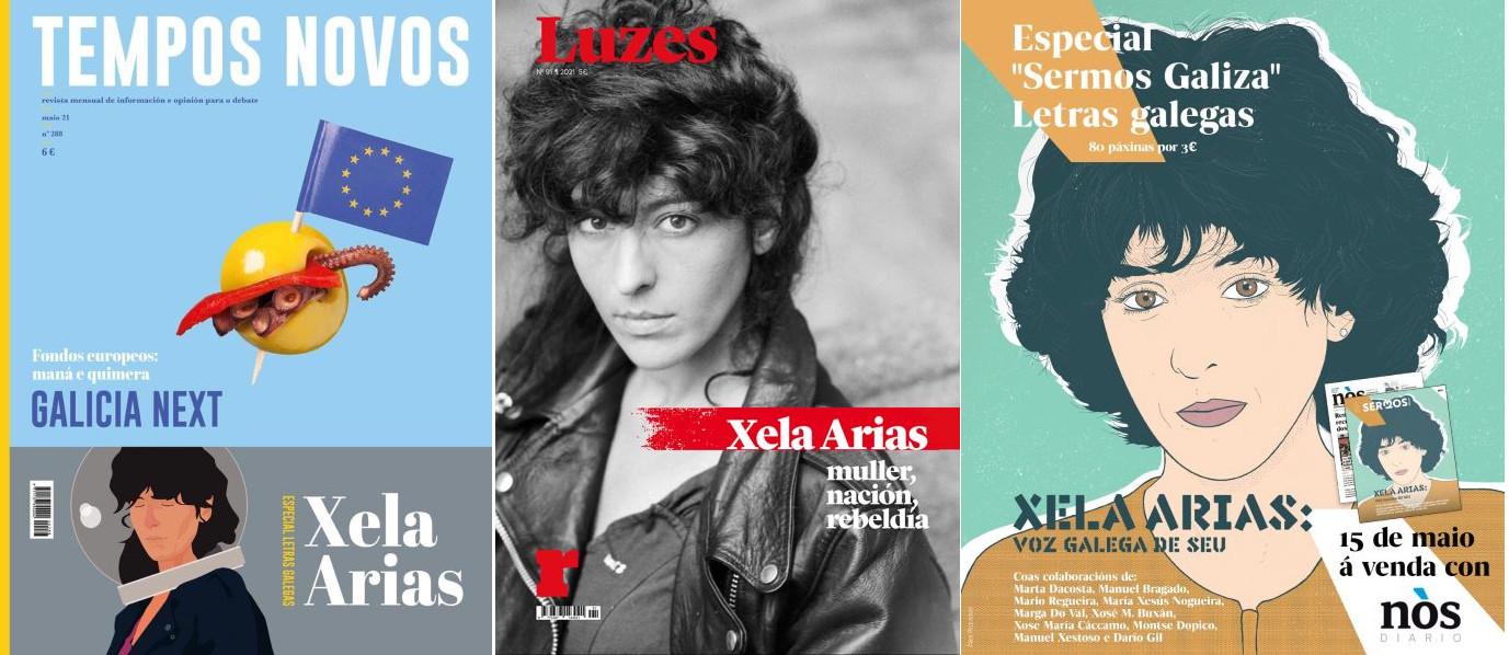 Luzes, Tempos Novos e Sermos Galiza colocan nos quioscos importantes contidos arredor da autora