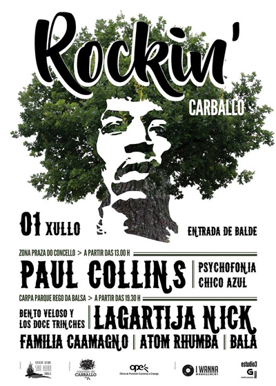 O festival Rockin´Carballo presenta cartel completo con Paul Collins no vermú