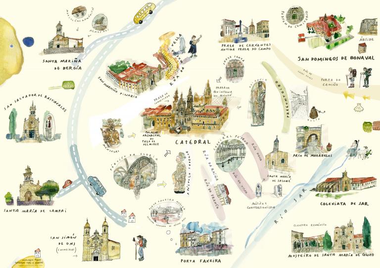 A cidade foi a grande protagonista do período no eido galego-portugués ao aglutinar mencións e creadores