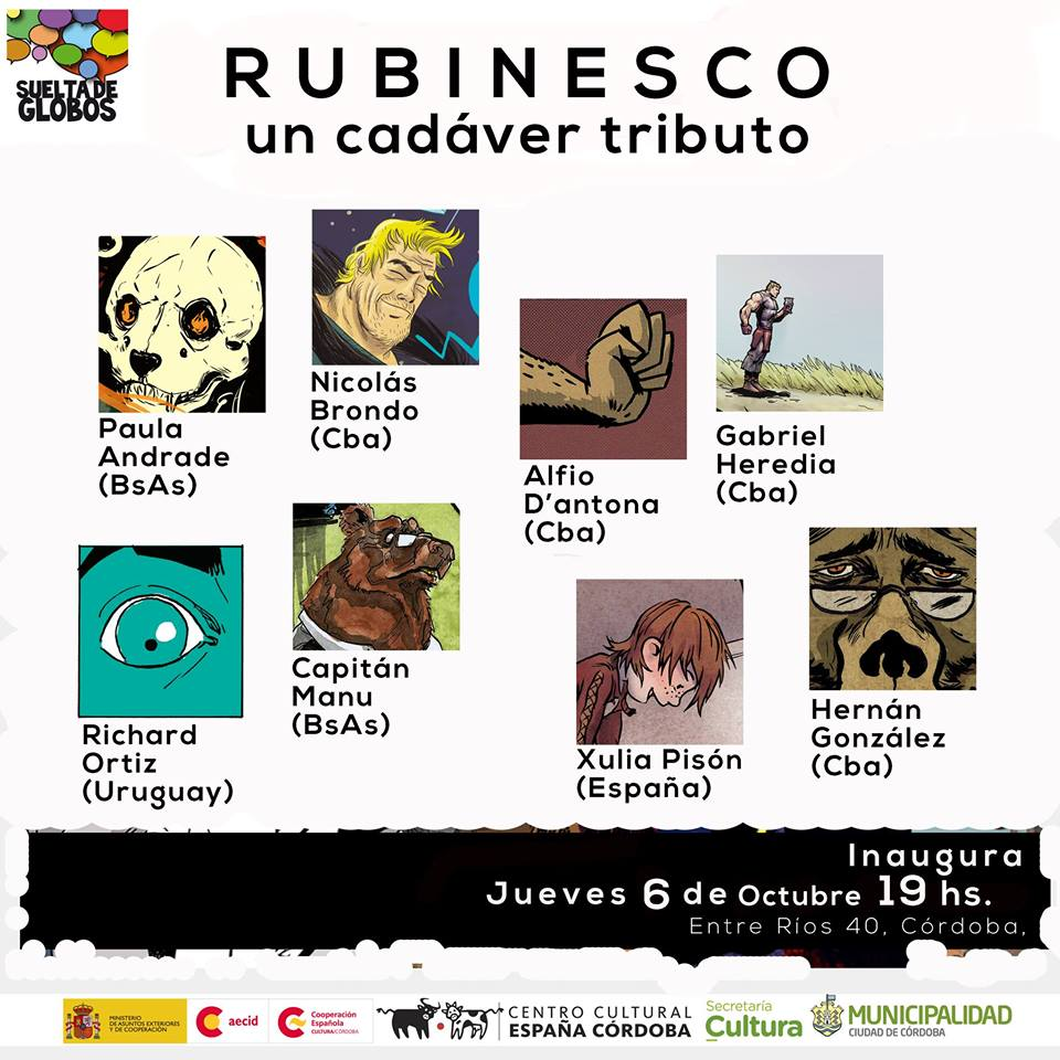 <i>Rubinesco (un cadáver tributo)</i> poderá verse no Centro Cultural España Córdoba