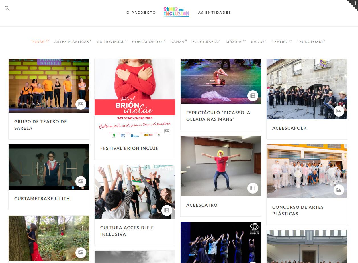 O inventario web recolle iniciativas de 33 entidades de todo o país