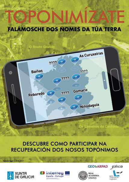 <i>Toponimízate</i> inclúe unha aplicación para móbil e conferencias