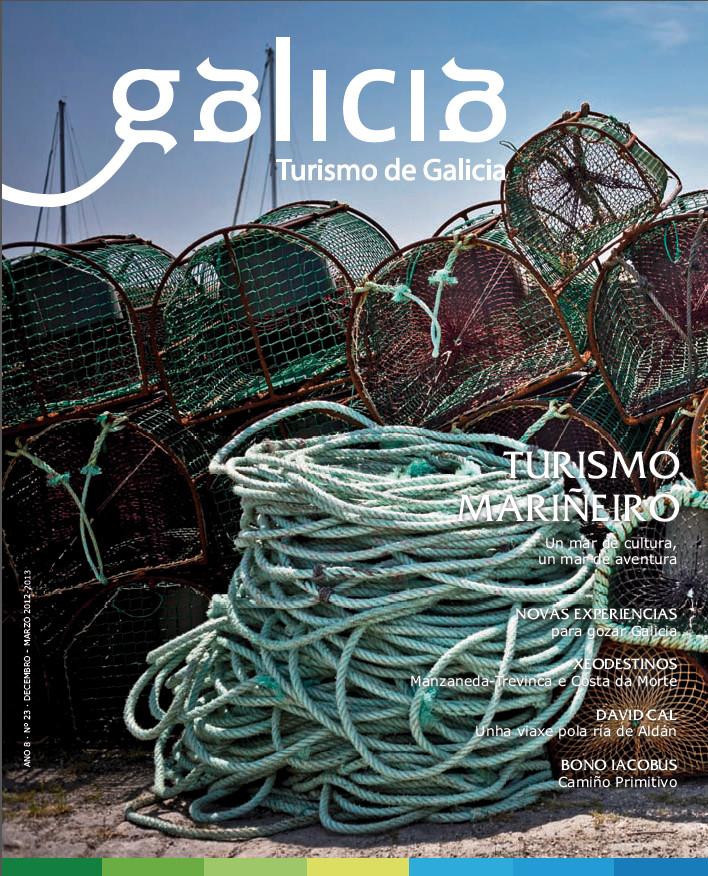 O turismo mariñeiro protagoniza a capa da publicación de Turgalicia