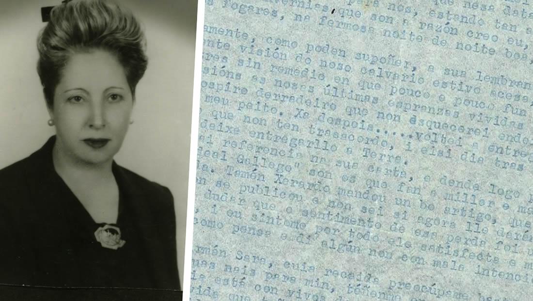 A correspondencia de Virxinia Pereira revela a complicada constitución do legado do galeguista durante o franquismo
