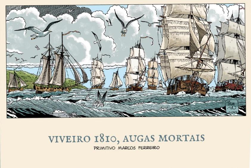 <i>Viveiro 1810, augas mortais</i> foi publicado polo Servizo de Publicacións da Deputación de Lugo