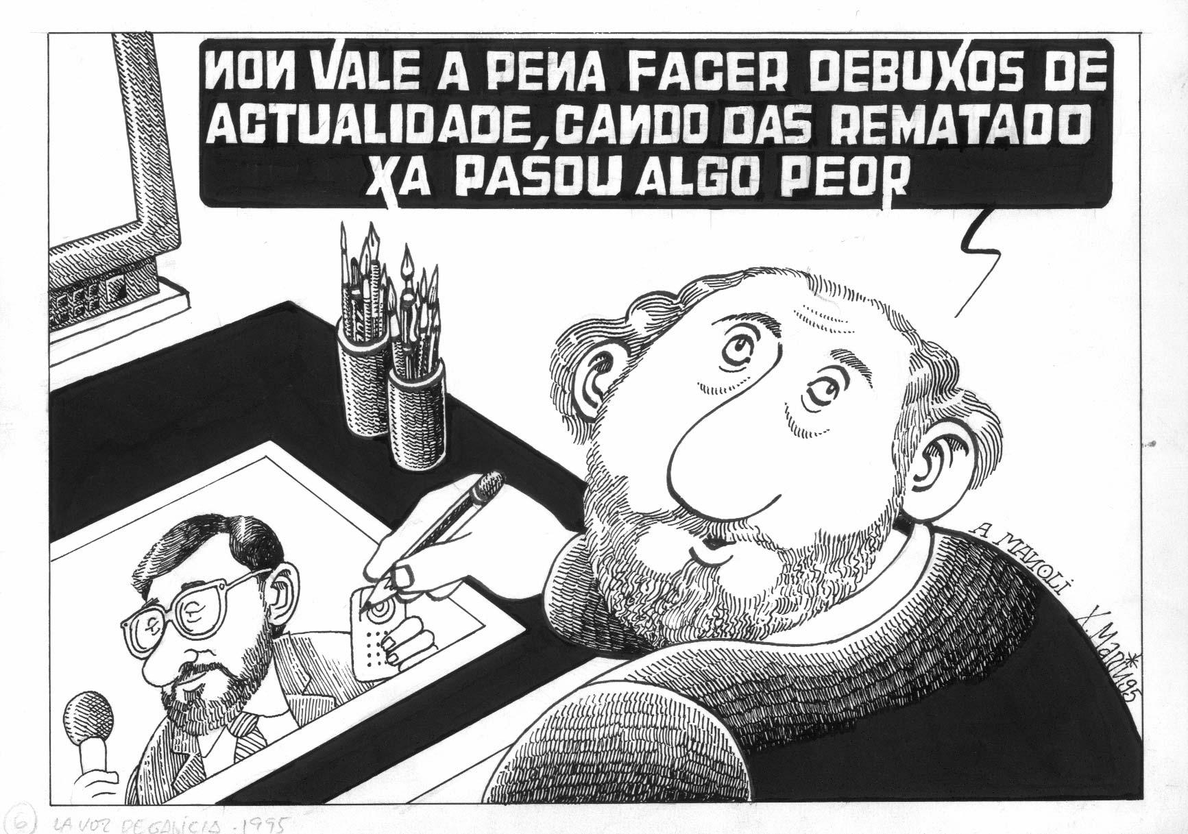 Xaquín Marín marcou co seu traballo a recuperación do humor gráfico en Galicia