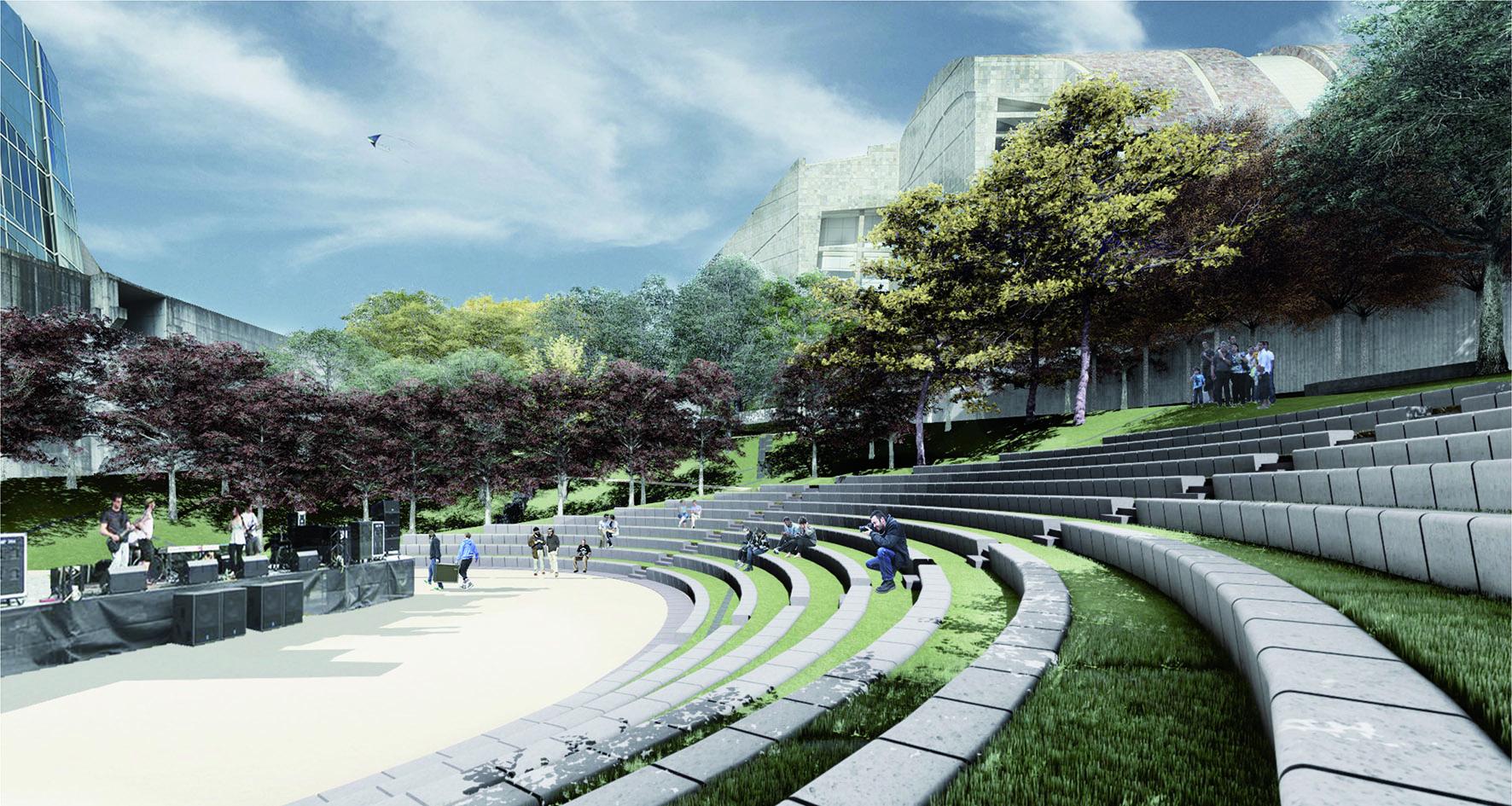 O Xardín do Teatro ocupará un dos ocos da Cidade da Cultura