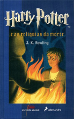 Portada de Harry Potter e as reliquias da morte. Autor   J.K. Rowling