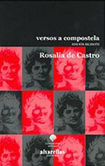 Portada de Versos a Compostela. Autor   Rosalía de Castro
