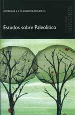 Portada de Estudos sobre Paleolítico. Autor   Xosé María Álvarez Blázquez