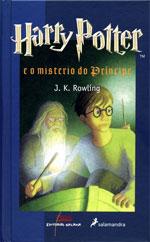 Portada de Harry Potter e o misterio do Príncipe. Autor   J.K. Rowling