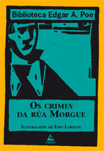 Portada de Os crimes da Rúa Morgue. Autor   Edgar A. Poe