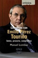 Portada de Conversas con Emilio Pérez Touriño. Autor