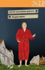 Portada de Guía do autostopista  galáctico. Autor   Douglas Adams