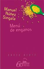 Portada de Menú de enganos. Autor   Manuel Núñez Singala