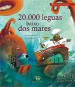 Portada de 20.000 leguas baixo dos mares. Autor   Jules Verne