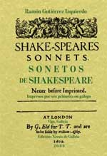 Portada de Sonetos de Shakespeare